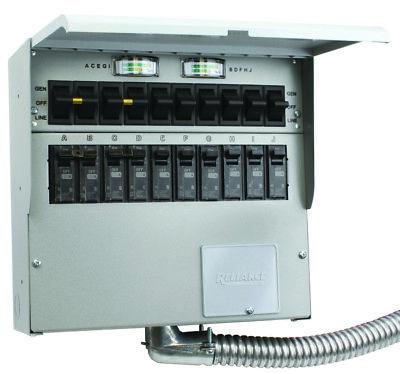Reliance Controls 510c Pro Tran2 10-circuit 50a Manual Transfer Switch Kit