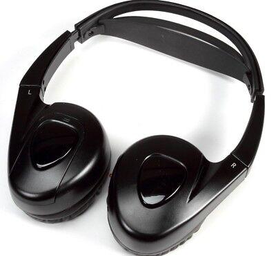 Flat Stereo Headphones (Audiovox Single Channel Wireless Fold-flat Stereo Headphones - Black  )