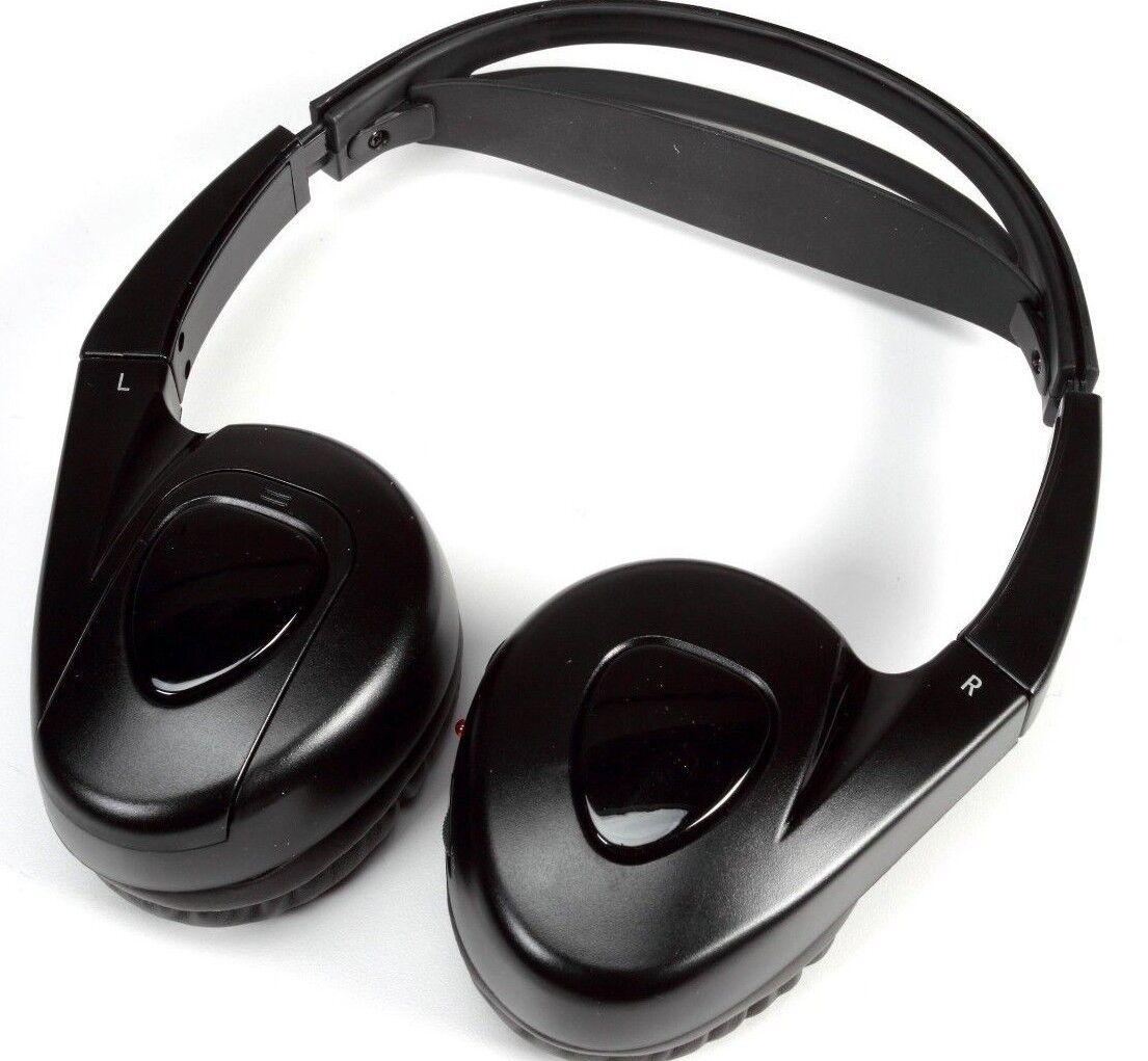 Audiovox Wireless IR Infrared Stereo Headphones For Car DVD Player - Black