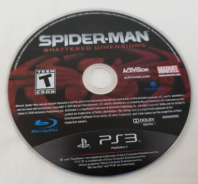 Spider-Man Shattered Dimensions PS3 SpiderMan PlayStation 3 GREAT Cond dimension