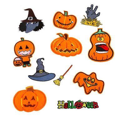 Halloween Iron On Sew On Cloth Patch Badge Appliqué Cosplay Comic TV Movie Set