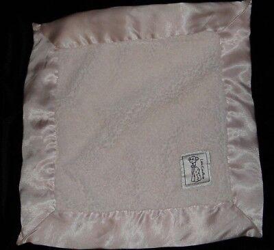 - Little Giraffe Pink Velvet Chenille Circle Dots Satin Security Mini Blanket