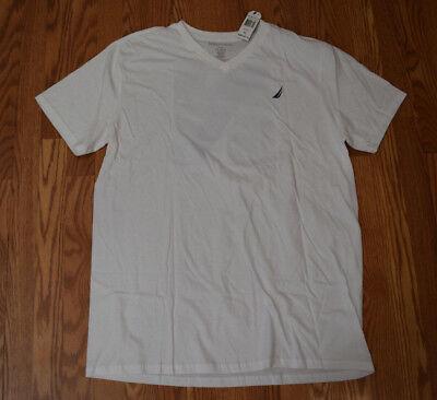 NWT Mens NAUTICA White Classic logo Graphic V-Neck T Shirt XXXL 3XL