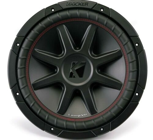 Kicker CompVR 12 Inch Subwoofer with Dual 4 Ohm Voice Coils *43CVR124