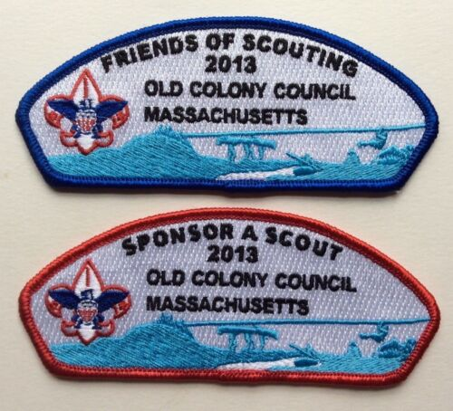 """Old Colony Council 2013 Set  - """"Sponsor A Scout"""" & """"Friends of Scouting"""""""