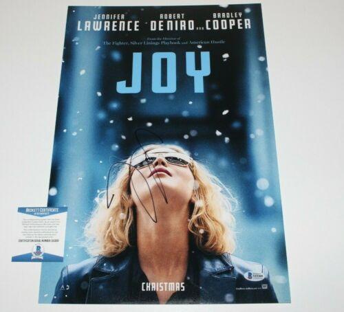 SEXY JENNIFER LAWRENCE SIGNED 'JOY' 12X18 MOVIE POSTER BECKETT COA HUNGER GAMES