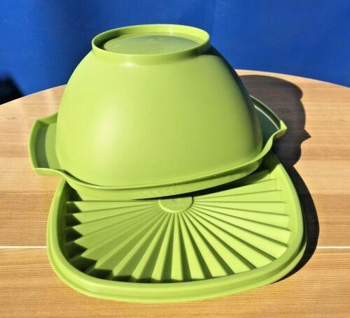 Tupperware Medium Classic Servalier Bowl Container 6 Cup/1.4L Green Avocado New