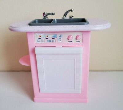 Barbie Kitchen Sink Dishwasher Appliance Dreamhouse Doll House Furniture