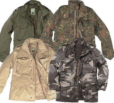 MIL-TEC Herren M65 Parka Jacke Feldjacke Jacket Schimanski Camo Tarn Winterjacke Camo Winter Parka