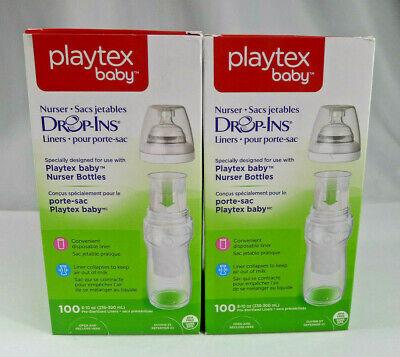 Lot Playtex Baby Nurser Drop Ins Liners For 8-10oz Bottles 100 ct Each 200 Total](Baby Bottles In Bulk)