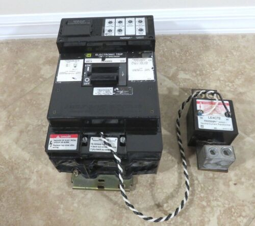 SQUARE D LX36400G 400 AMPS S1B W/ ARP100 RATING PLUG & LE4CT2 Transformer