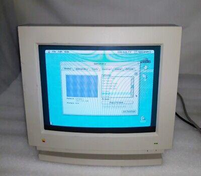 "Vintage Apple Macintosh Color Display 14"" CRT Monitor M1212 Tested Working"
