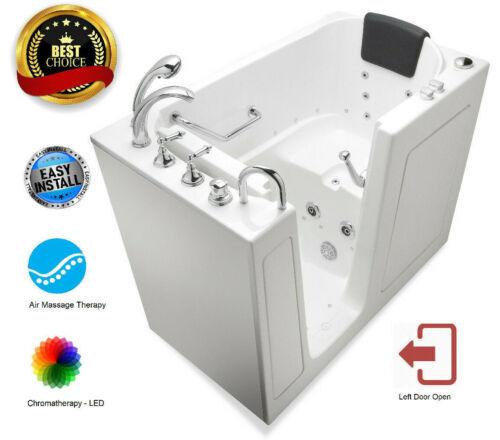 "30""x 52"" Premium AIR Therapy Walk In Bath Tubs - Left Door"