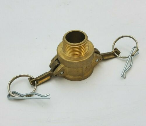 "1"" Female Camlock Fitting Threaded Male 1"" Pipe Brass Handles Seal Fast SFC B-75"