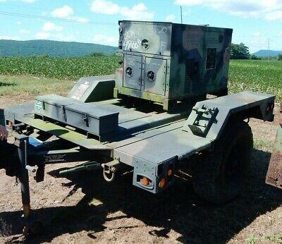 Usgi 5kw 60hz Diesel Generator W Chassis 1.5 Ton Trailer