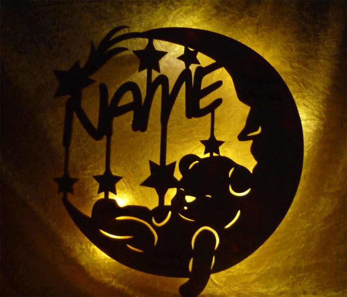 Taufgeschenk Babygeschenke Lampe - Süße Träume Geschenke zur Geburt Taufe + Name