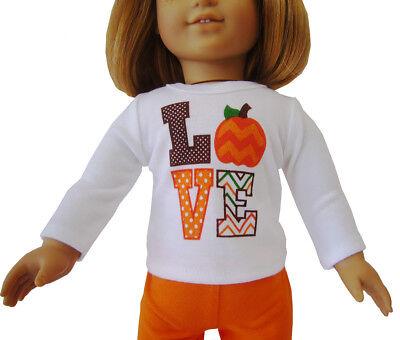 Cute Fall Love Pumpkin T-Shirt for 18