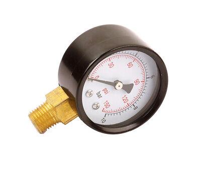 Air Hydraulic Pneumatic Pressure Gauge Dial 2 50mm 0-150 Psi Npt14 Bottom