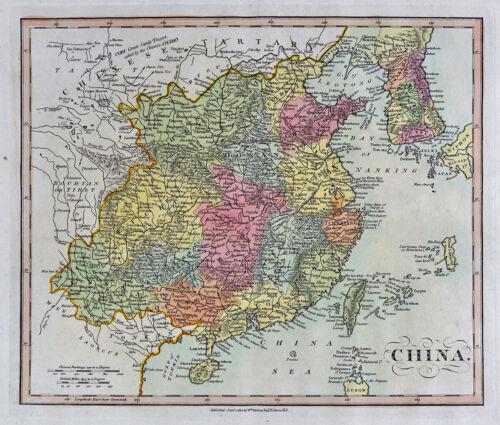 1812 Darton Union Atlas Map China Korea Taiwan Canton Japan Nippon Hainan Asia