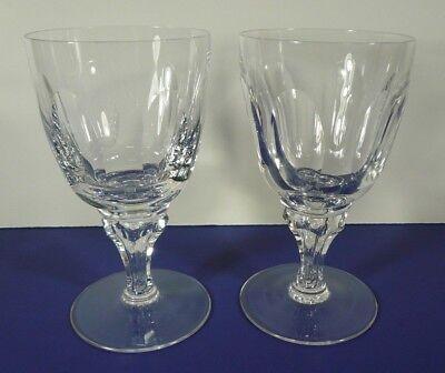 Royal Leerdam Crystal Queen Juliana Set (s) of 2 Water Goblets Netherlands