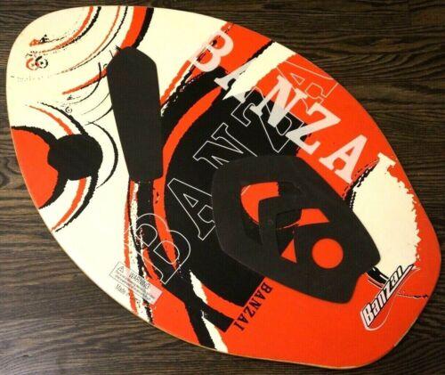 "BANZAI Very Cool Red Black Super Sick Retro Style Wooden 29.5"" X 19.5"" SKIMBOARD"