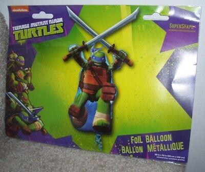 NEW Teenage Mutant Ninja Turtle Large Foil Balloon Supershape Anagram NIP - Ninja Turtle Balloon