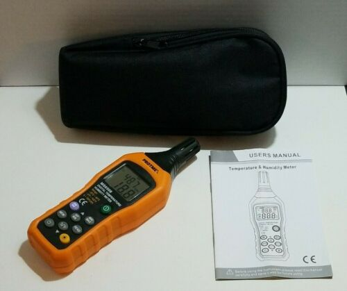 ~Protmex MS6508 Digital Temperature Humidity Meter Digital Psychrometer Thermo~