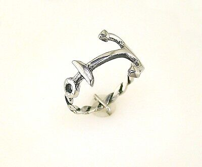 Stainless Steel Braided Rope Band Anchor Ring