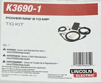 Lincoln K3690-1 Tig Kit For The Power Mig 210 Mp. Free Shipping