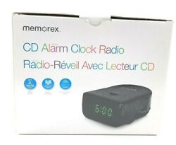 Memorex CD Alarm Clock Radio AM/FM MC7223 BK, New in Open Box
