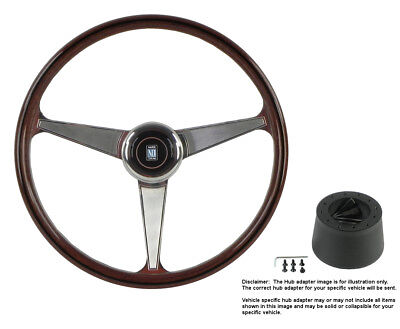Nardi Steering Wheel Anni 60 - 380 mm Wood w/Hub for Plymouth Reliant All Years