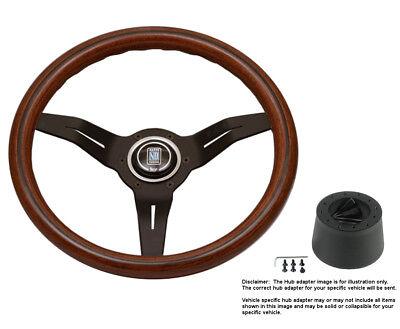 Nardi Steering Wheel Deep Corn 330 Mahogany Wood mm Hub for Plymouth Reliant