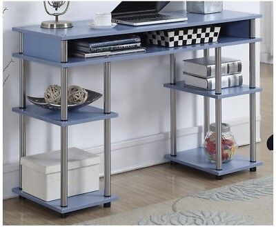 - Student Desk In Blue By Convenience Concepts Study Home Office Bedroom Books Den