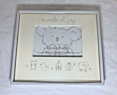 """New Koala Baby Bundle of Joy Baby Picture Frame for 4"""" x 6"""" Photo Cream Color"""