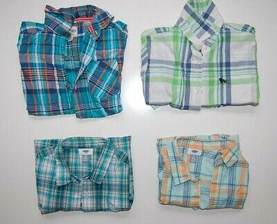 Boys Preppy Clothing (Boys clothes checkered plaid button down short sleeve shirt- preppy you pick)