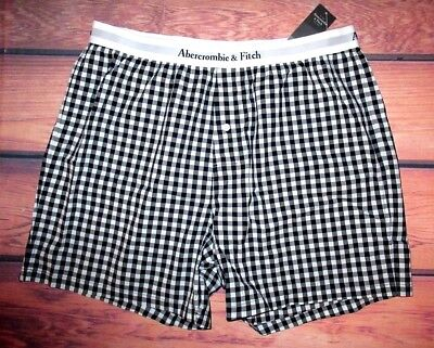 MENS ABERCROMBIE & FITCH CHECKED BOXER SHORTS SIZE XXL