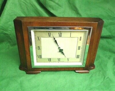 1950 SMITH'S 8 DAY MANTLE CLOCK - SERVICED & WORKING