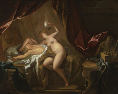 """oil painting handpainted on canvas """"Cupid and Psyche"""""""
