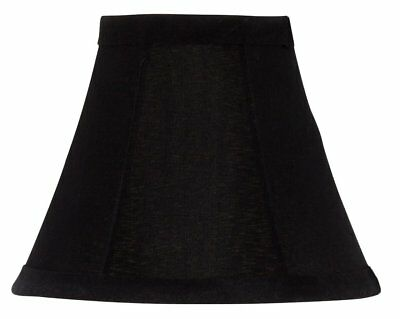 (Black Silk with Gold Lining Bell Shade Chandelier Lamp Shade Mini Clip on Shade)