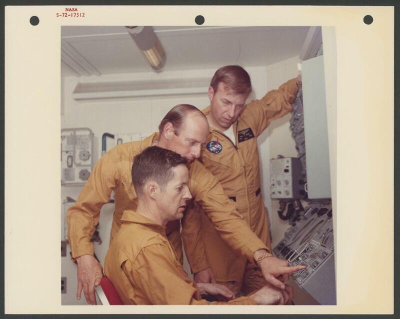 NASA Skylab 2 Charles Conrad Kerwin Weitz photo | Red ink S-72-17512 Kodak paper