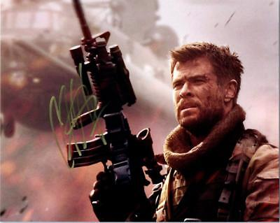 Chris Hemsworth 12 Strong 8X10 Signed Photo Autographed Picture Coa