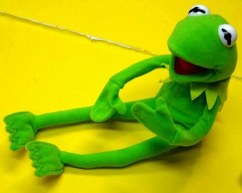 "11"" Jim Henson Muppets Kermit the Frog Doll  Poseable NANCO *MINTY"