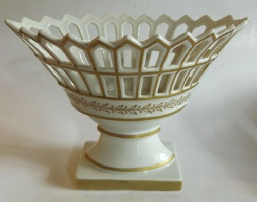 Vintage Bolted and Reticulated Compote