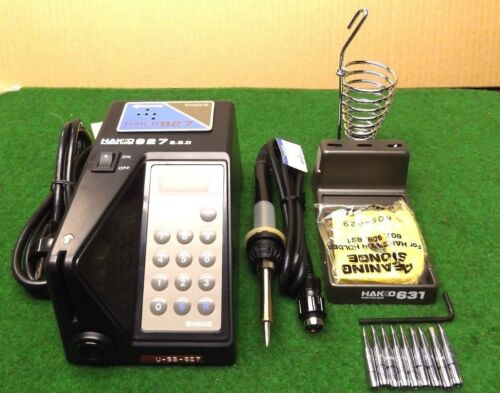 HAKKO # 927 DIGITAL SOLDERING STATION COMPLETE WITH ALL PARTS.