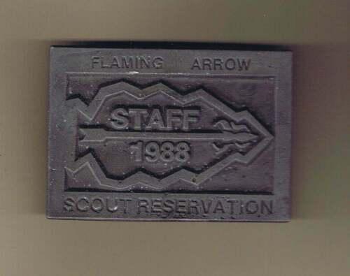Flaming Arrow Reservation Staff 1988 Belt Buckle Cs