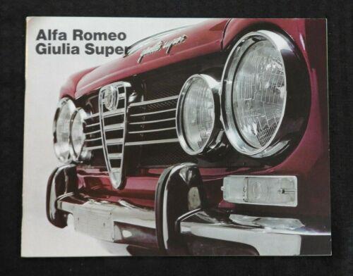 "1967 ""THE ALFA ROMEO GIULIA SUPER"" CATALOG SALES BROCHURE VERY NICE 20 pages"