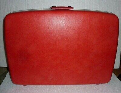 Vintage Large Red Samsonite Silhouette Hard Shell Suitcase Luggage