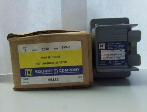 New Square D 2510 FW-1 Water Tight FHP Manual Starter Series A NIB