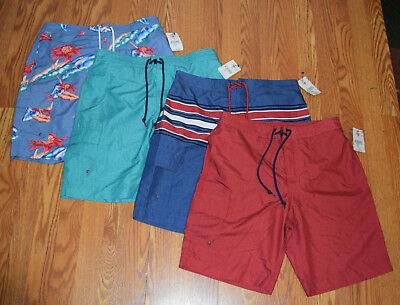 NWT Mens CHAPS Cargo Swim Trunks Blue Red Green Floral S M L XL XXL $50