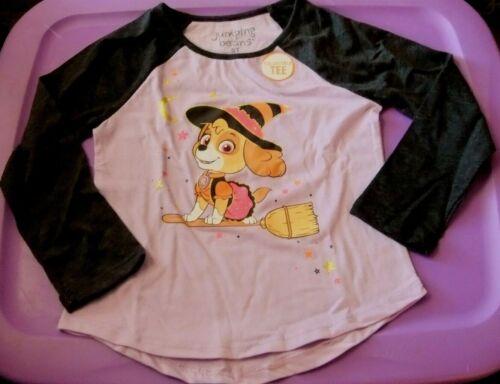 NWT Toddler Girl 5T HALLOWEEN Shirt Long Sleeve PAW PATROL Purple
